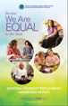 2013 National Disability Employment Awareness Month Poster - English (204 KB)